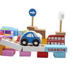 溜达猫 城市交通场景积木玩具 100粒+60片拼图券后 26.8元包邮