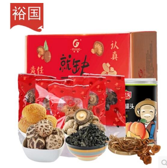 山珍干货香菇花菇猴头菇茶树菇木耳组合装425g    券后19.9元包邮