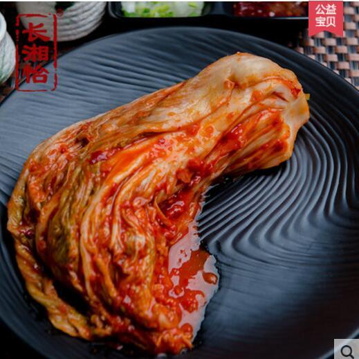 韩国泡菜正宗辣白菜开胃菜每袋500克*5袋