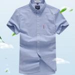 Romon/罗蒙夏季男士短袖衬衫劵后79元包邮
