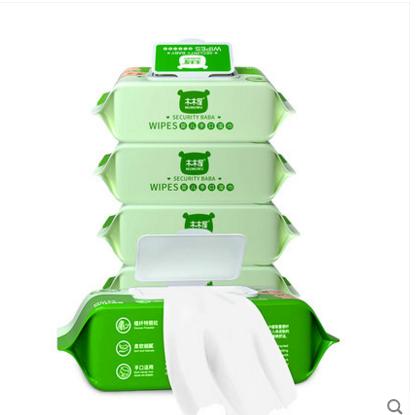 婴儿湿巾带盖80抽*5包+5小包 券后5.9元包邮